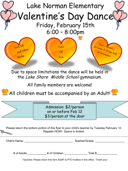 Lake Norman Elementary Valentine*s Day Dance Thursday