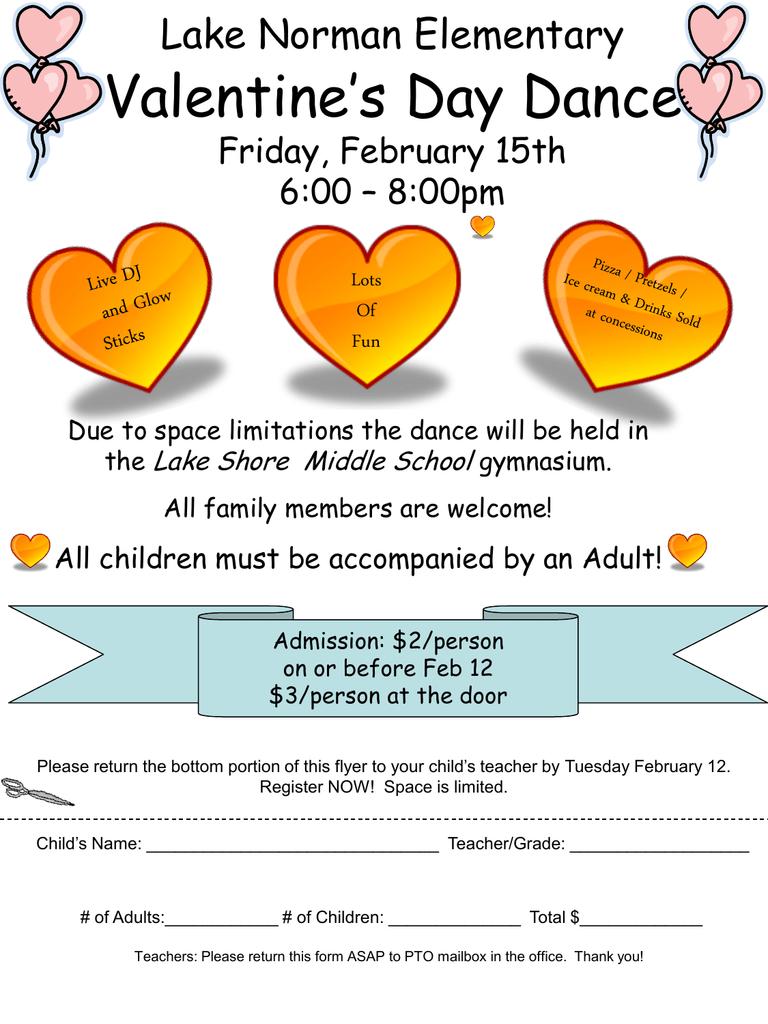Lake Norman Elementary Valentine S Day Dance Thursday