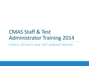 Test Administrators - Online Assessment