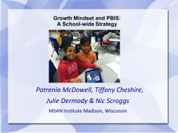 Growth Mindset and PBIS: A School