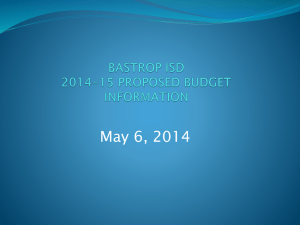 Bastrop ISD Financial Information