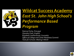 Wildcat Success Academy - Louisiana Department of Education