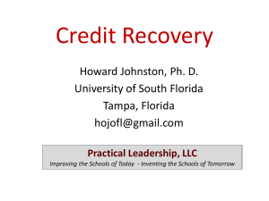 Credit Recovery - ronwilliamson.com
