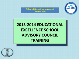 EESAC Presentation - Office of School Improvement