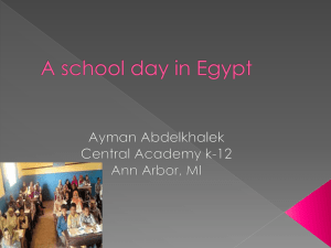 A school day in Egypt
