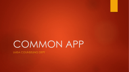 Common App - Lindblom Math and Science Academy