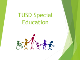 TUSD Special Education TTIP Presentation