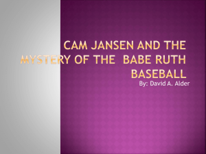 Cam Jansen and the mystery of Babe Ruth Baseball