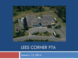 Agenda and slide deck - the Lees Corner PTA Website