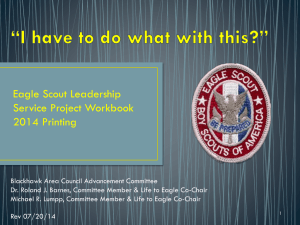 How to Fill Out an Eagle Project Workbook