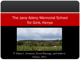Jane Adeny Memorial School - Northern Illinois University