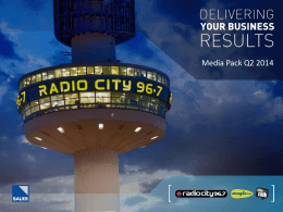 Radio City Media Pack