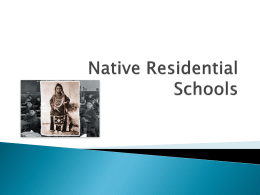Native Residential Schools