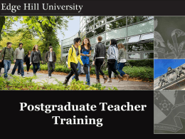 Postgraduate Teacher Training - University of Central Lancashire