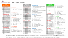 14-15 Academic Calendar in Powerpoint