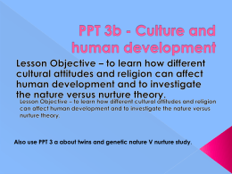 PPT Culture and human development