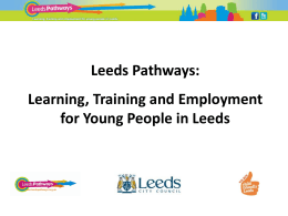 Learning, Training and Employment for Young People in Leeds