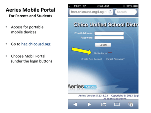 Aeries Parent Portal is available as an app. Click for directions