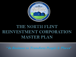 The North Flint Reinvestment Corporation Master Plan