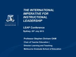 Dinham_LEAP_2013 - A Leap For Principals