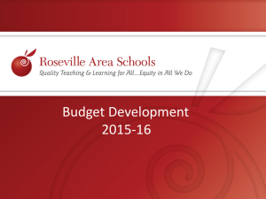 RAS ISD 623 Budget Preview 2015-16