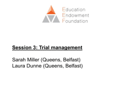 Session 3 - Trial management pptx