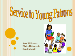 SERVICE TO YOUNG PATRONS
