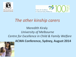 Young and *care-full*: Young kinship carers research project