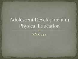 Development in Physical Education