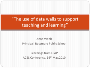 The use of data walls to support teaching and learning