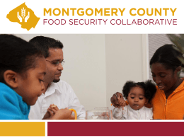 Montgomery County Food Security Collaborative Launch Slide