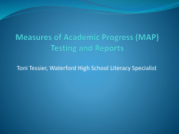 (MAP) Testing and Reports - Waterford Public Schools