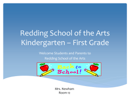Redding School of the Arts Kindergarten Mandarin Immersion