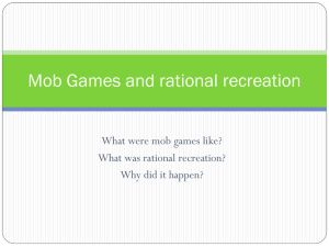 Rational Recreation - PE Course Specification