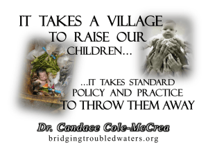Parental Incarceration - Bridging Troubled Waters Candace Cole
