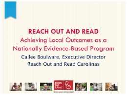 Reach Out and Read - Institute for Child Success