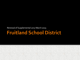 Replaces - Fruitland School District
