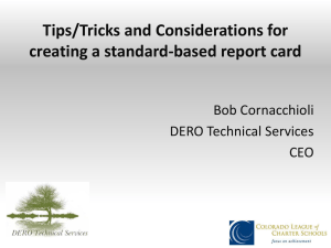 Report Cards! - DERO Technical