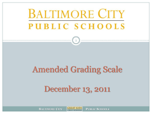 Current Grading Scale - Baltimore City Public Schools