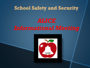 Alice School Safety Powerpoint for Parents