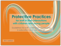 Protective Practices - Department for Education and Child