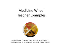 Medicine Wheel Teacher Examples
