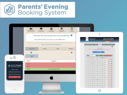 `Manage Your Appointments` tab - Parents` Evening Booking System