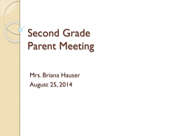 File - Mrs. Hauser`s Second Grade