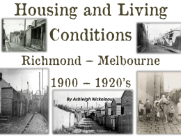 housing and living condition