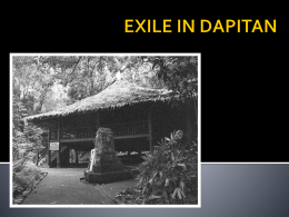 EXILE IN DAPITAN - Wikispaces - history5H23-2jbp