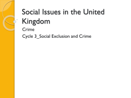 3_Social Exclusion and Crime - eduBuzz.org Learning Network