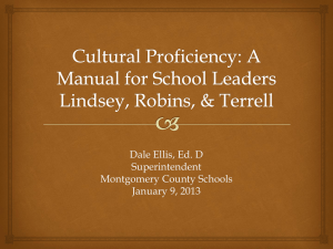 Cultural Proficiency - Montgomery County Schools