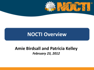 NOCTI Overview - MnSCU CTE - Career Technical Education