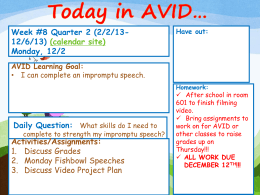 AVID Week 8 Quarter 2 Lessons